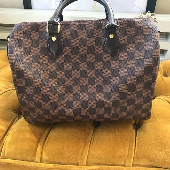 a59dd4d7557a Louis Vuitton Handbags - LOUIS VUITTON Damier Ebene Speedy Bandouliere 30